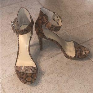 Calvin Klein Python snake print high heels